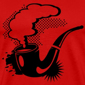 A smoking tobacco pipe T-Shirts - Men's Premium T-Shirt