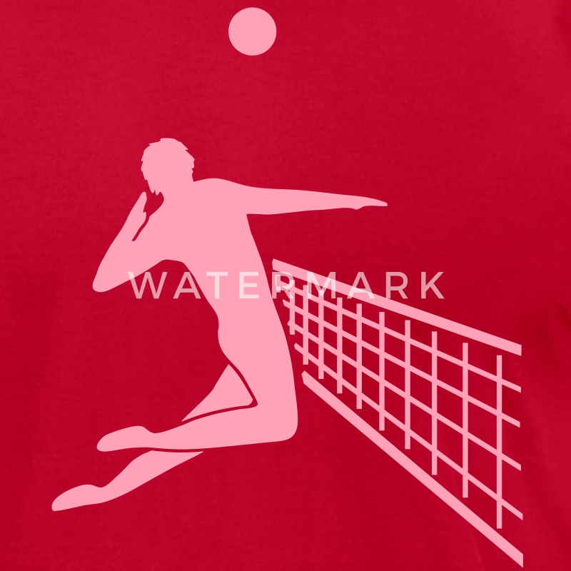 volleyball player T-Shirts - Men's T-Shirt by American Apparel
