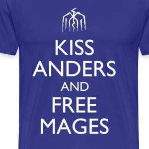 Kiss Anders and Free Mages Design T-Shirts - Men's Premium T-Shirt