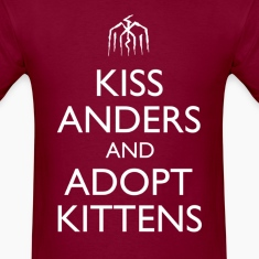 """Kiss Anders and Adopt Kittens"" Design T-Shirts"