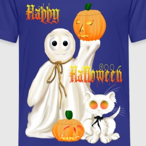 Ghost and Ghosty Kitty - Kids' Premium T-Shirt