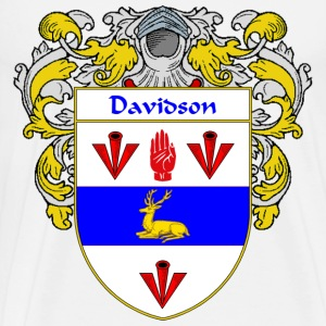 Davidson Coat of Arms/Family Crest - Men's Premium T-Shirt