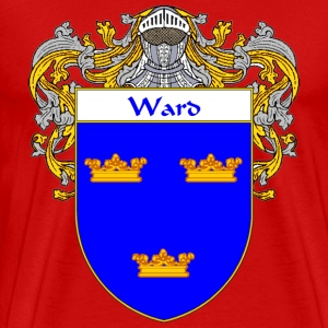 Ward Coat of Arms/Family Crest - Men's Premium T-Shirt