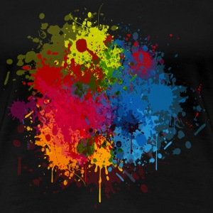 Abstract Paint Splatter Women's T-Shirts - Women's Premium T-Shirt