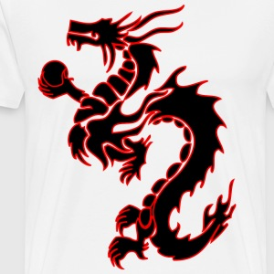 tribal_chinese_dragon bk/rd T-Shirts - Men's Premium T-Shirt