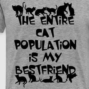 CAT POPULATION T-Shirts - Men's Premium T-Shirt