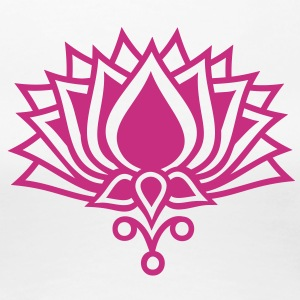 LOTUS FLOWER/ c / symbol of the enlightenment Women's T-Shirts - Women's Premium T-Shirt