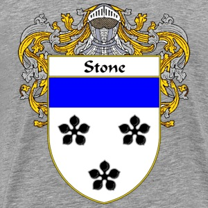 Stone Coat of Arms/Family Crest - Men's Premium T-Shirt