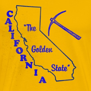 California, The Golden State Men's vintage T - Men's Premium T-Shirt