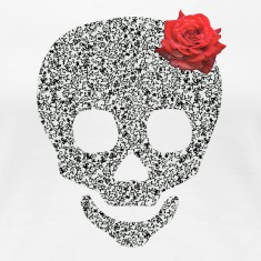 skull and rose Women's T-Shirts