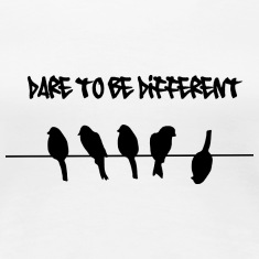 Dare to be Different Birds on a wire Women's T-Shirts