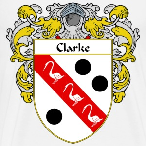 Clarke Coat of Arms/Family Crest - Men's Premium T-Shirt