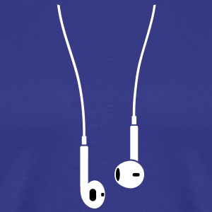 Phone/Pod 5 earphones 2clr T-Shirts - Men's Premium T-Shirt
