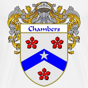 Chambers Coat of Arms/Family Crest - Men's Premium T-Shirt