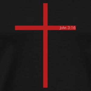 John 3:16 Cross - Men's Premium T-Shirt