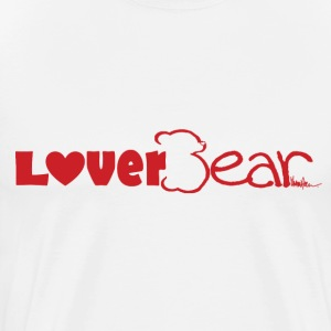 LoverBear logo T-shirt--white - Men's Premium T-Shirt