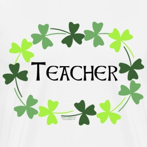 Teacher Shamrock Oval T-Shirts - Men's Premium T-Shirt