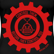 Design ~ MTRAS Control The Robots Red - Women's XL Tshirt