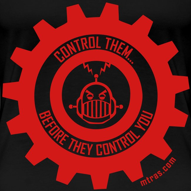MTRAS Control The Robots Red - Women's XL Tshirt