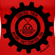 Design ~ MTRAS Control The Robots Black - Women's XL Tshirt