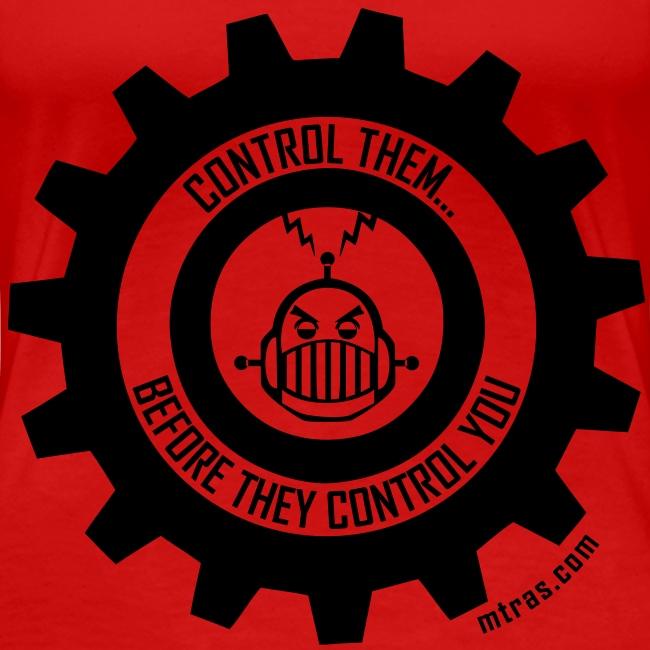 MTRAS Control The Robots Black - Women's XL Tshirt