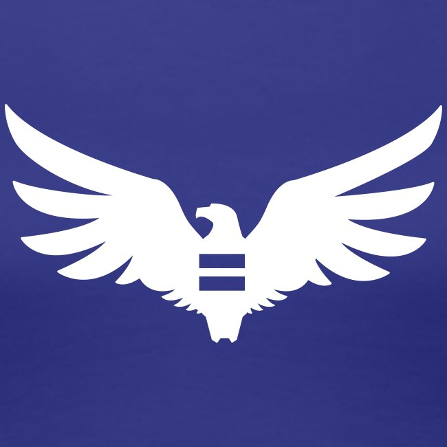 Women's Blue Equal Eagle T-Shirt
