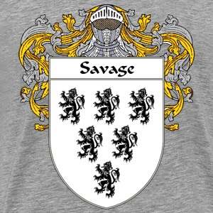 Savage Coat of Arms/Family Crest - Men's Premium T-Shirt