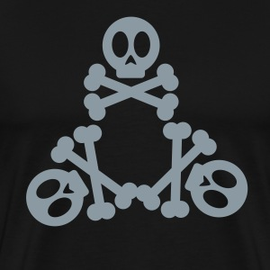 Tri Skulls Metallic - Men's Premium T-Shirt