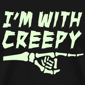 I'm with creepy T-Shirts - Men's Premium T-Shirt