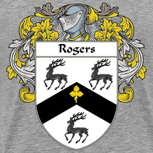 Rogers Coat of Arms/Family Crest - Men's Premium T-Shirt