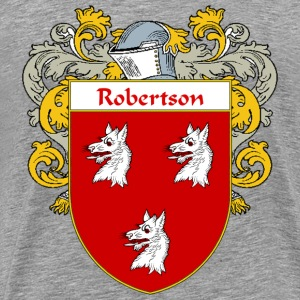 Robertson Coat of Arms/Family Crest - Men's Premium T-Shirt