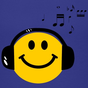 Music Love Smiley with Headphones Kids' Shirts - Kids' Premium T-Shirt