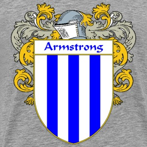Armstrong Coat of Arms/Family Crest - Men's Premium T-Shirt