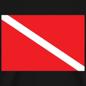SCUBA Diver Down Flag T-Shirt - Men's Premium T-Shirt