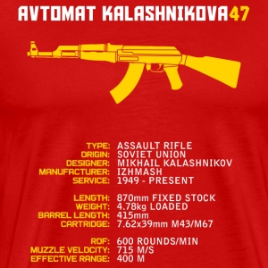 Ak47 Infographic - Men's Premium T-Shirt