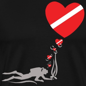 Love SCUBA Diving  T-Shirt - Men's Premium T-Shirt