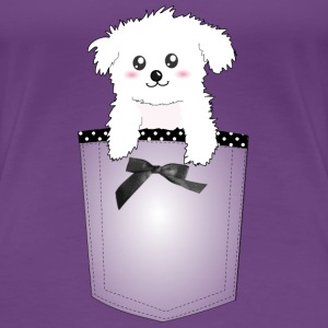 Cute Pocket Puppy Dog Women's T-Shirts - Women's Premium T-Shirt