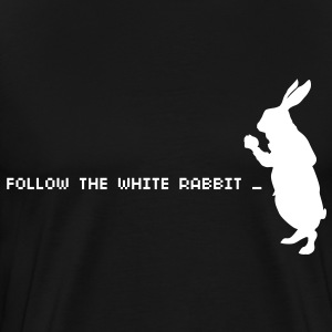Follow the white rabbit - Men's Premium T-Shirt