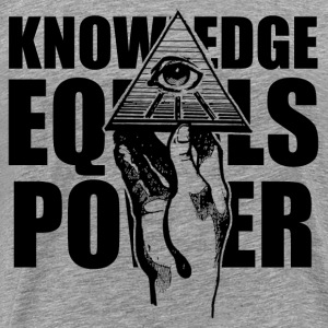 hand_and_eye_kownledge T-Shirts - Men's Premium T-Shirt