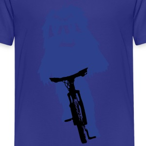 Yeti monster on a bike - Kids' Premium T-Shirt