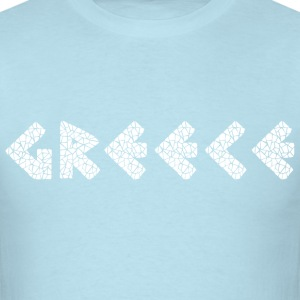 Greece White T-Shirts - Men's T-Shirt