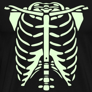 Skeleton Body Glow In The Dark T-Shirts - Men's Premium T-Shirt