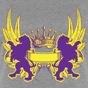 Crown Crest Design Women's T-Shirts - Women's Premium T-Shirt