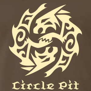 Wolf Circle Tribal Tattoo 1 T-Shirts - Men's Premium T-Shirt