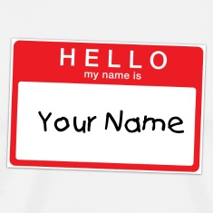 Hello My Name is Sticker T-shirt