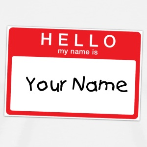 Hello My Name is Sticker T-shirt - Men's Premium T-Shirt