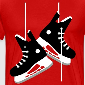 Ice hockey skates T-Shirts - Men's Premium T-Shirt