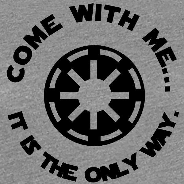 Star Wars women's t-shirt - Come with me - Women's Premium T-Shirt