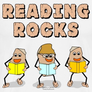 Reading Rocks  T-Shirts - Men's Premium T-Shirt