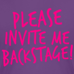 PLEASE INVITE ME BACKSTAGE! music rock metal Women's T-Shirts - Women's Premium T-Shirt
